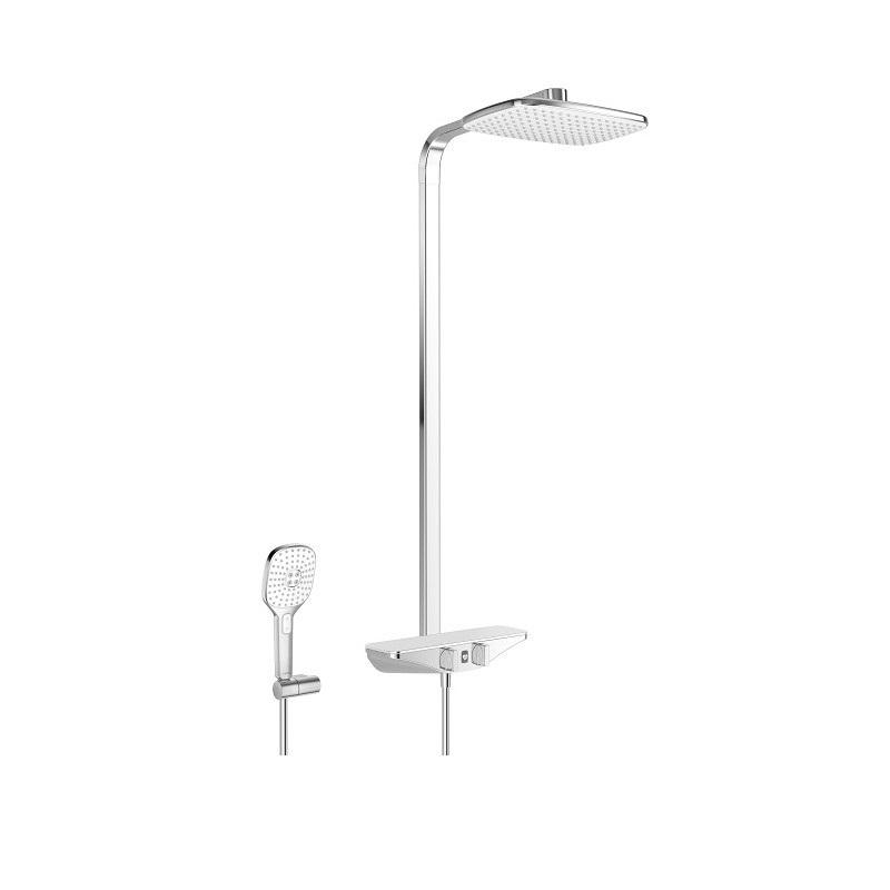 Hansa EMOTION - sprchový systém Wellfit s hlavovou sprchou a termostatom chróm/biela 5865017282