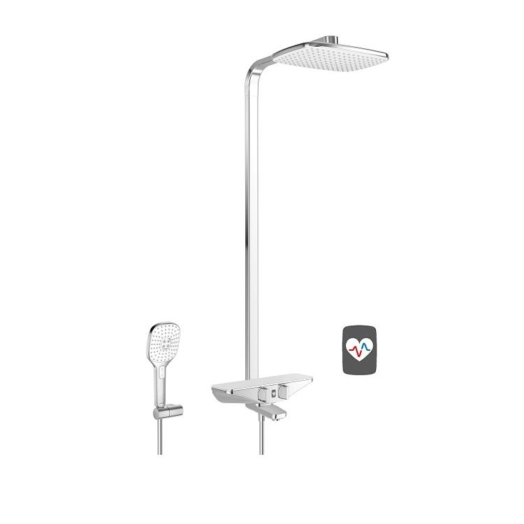 HANSA EMOTION Wellfit sprchový systém s hlavovou sprchou chróm/biela 5865217282