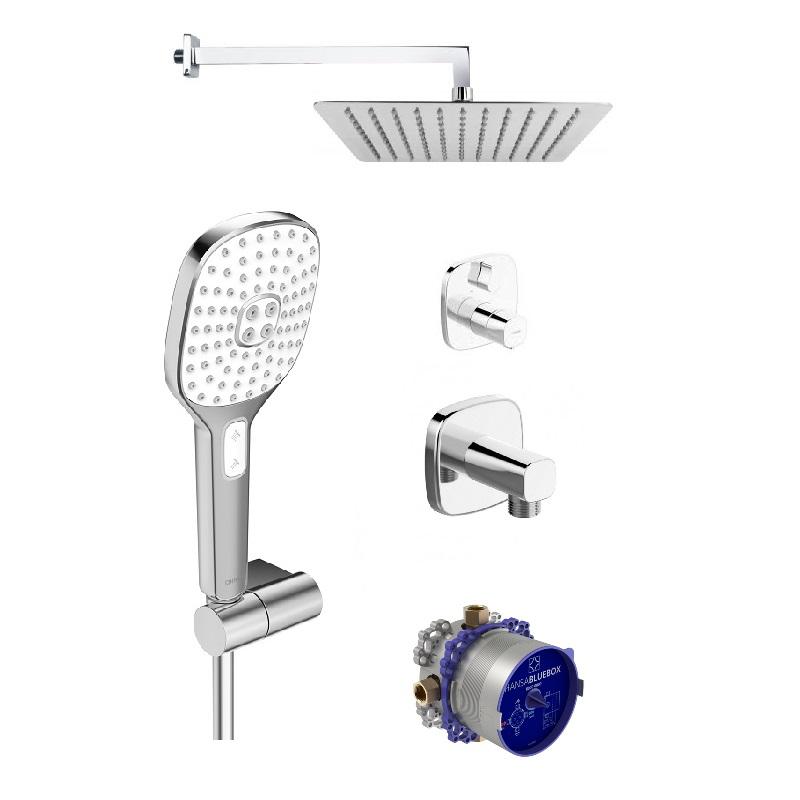 HANSA Living SET sprchový s termostatickou bateriou a hlavovou sprchou chróm 371978, 81149572