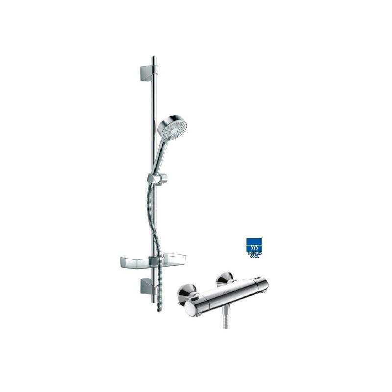 HANSA MICRA set 2v1 termostatická sprchová batéria + sprchový set 3-polohový chróm 48150171