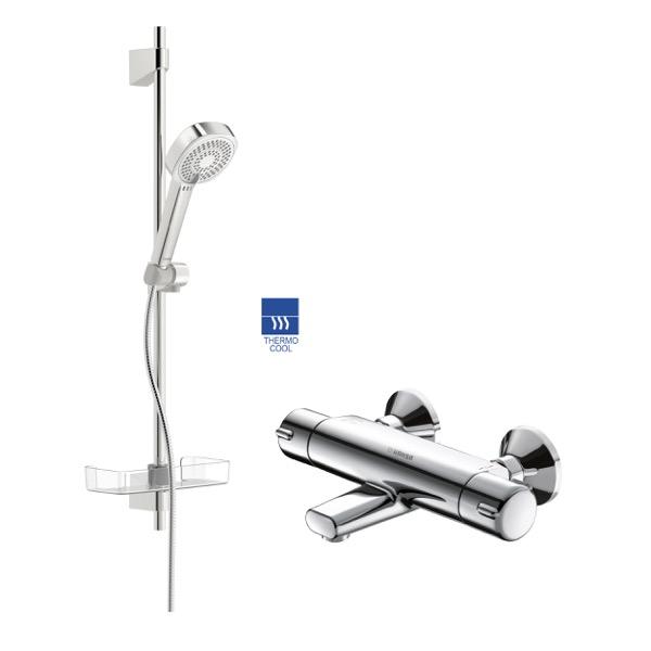 HANSA Micra Set batéria vaňová termostatická so setom Basicjet Style 72cm 58162171A44770131