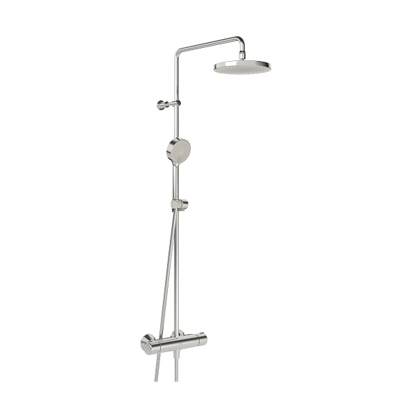 Hansa MICRA sprchový systém s hlavovou sprchou s termostatom na stenu chróm a 3-prúdovou ručnou sprchou 44350130