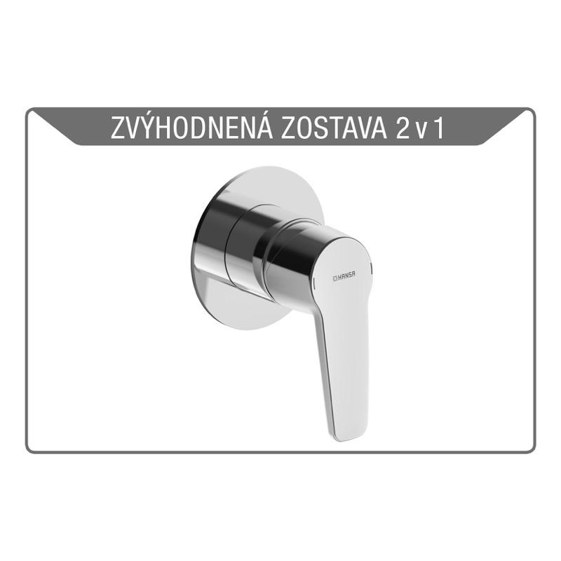 HANSA POLO SET 2v1 sprchová batéria + podomietkové teleso 355592