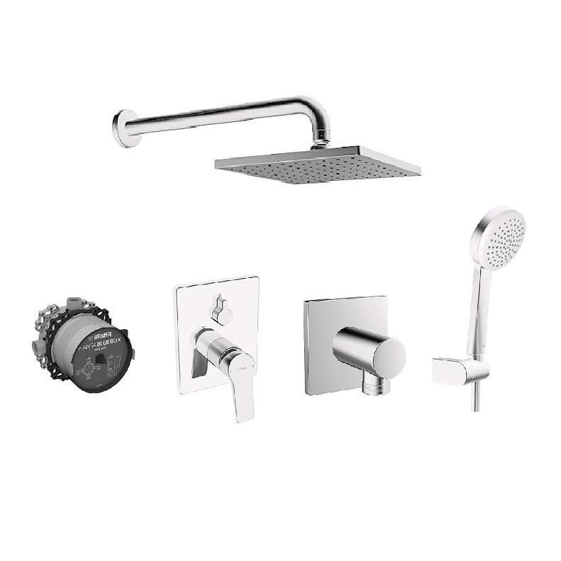 HANSA TWIST pákový podomietkový set s hlavovou aručnou sprchou