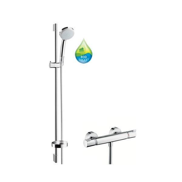 Hansgrohe Croma 100 Vario EcoSmart 9lit/min sprchový set s termostatom Ecostat Comfort a tyčou 0,9m chróm 27033000