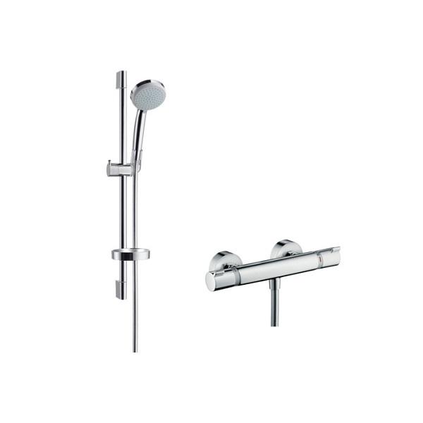 Hansgrohe Croma 100 Vario sprchový set s termostatom Ecostat Comfort a tyčou 0,65m chróm 27034000