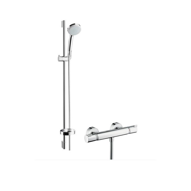 Hansgrohe Croma 100 Vario sprchový set s termostatom Ecostat Comfort a tyčou 0,9m chróm  27035000