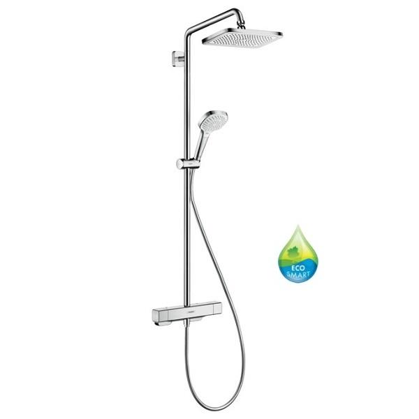 Hansgrohe CROMA E sprchový systém Showerpipe  280 1jet EcoSmart so sprchovým termostatom chróm 27660000