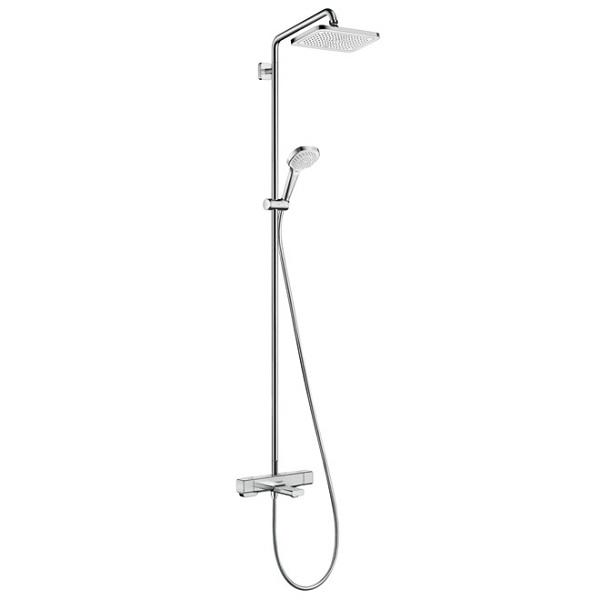 Hansgrohe Croma E sprchový systém Showerpipe 280 1jet s termostatom k vani chróm,  27687000