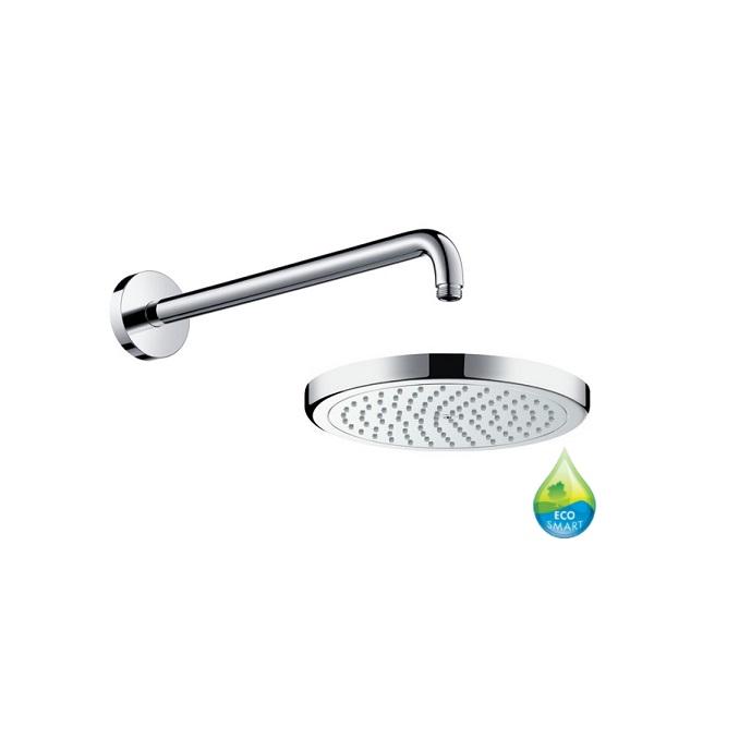 HANSGROHE Croma Select E hlavová sprcha 220 Air 2jet EcoSmart + rameno 390mm chróm 353274