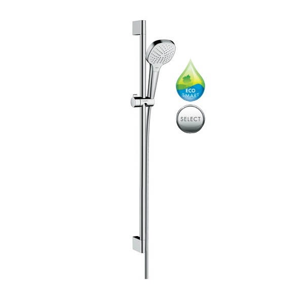 HANSGROHE Croma Select E Vario sprchový set 3-polohový EcoSmart 0,90 m biela/chróm 26593400