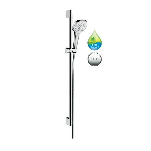 HANSGROHE Croma Select E Vario sprchový set 3-polohový EcoSmart 9 l/min 0,90 m biela/chróm 26593400