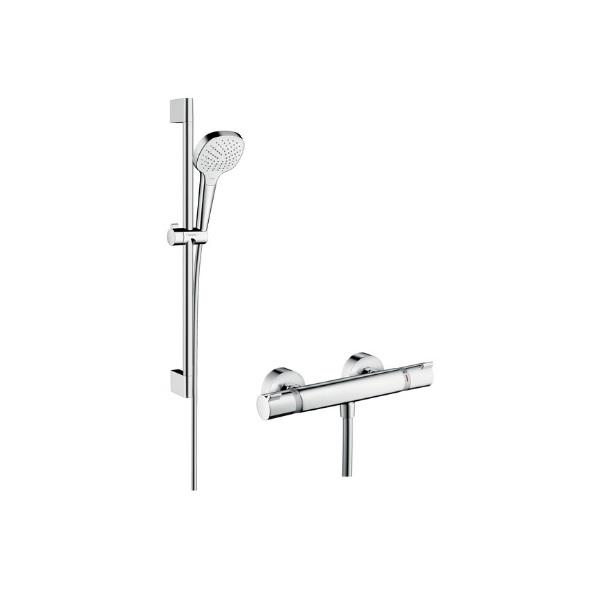 Hansgrohe Croma Select E Vario sprchový set s termostatom Ecostat Comfort a tyčou 0,65m biela/chróm 27081400