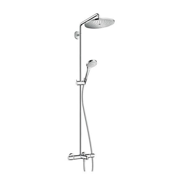 Hansgrohe Croma Select S sprchový systém Showerpipe 280 Air 1jet Showerpipe s termostatom k vani chróm, 26792000
