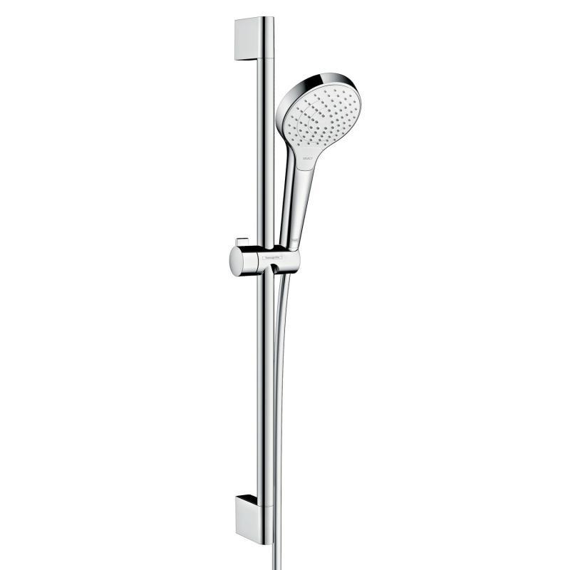 HANSGROHE Croma sprchový set Select S Vario EcoSmart 9 l/min 3-polovový 65cm biela/chróm