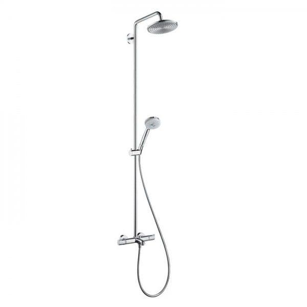 Hansgrohe Croma sprchový systém Showerpipe 220 1jet s termostatom k vani chróm, 27223000