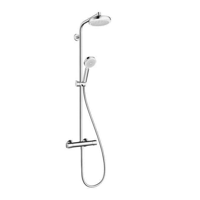 HANSGROHE Crometta 160 1jet Showerpipe sprchový systém s termostatom biela/chróm 27264400