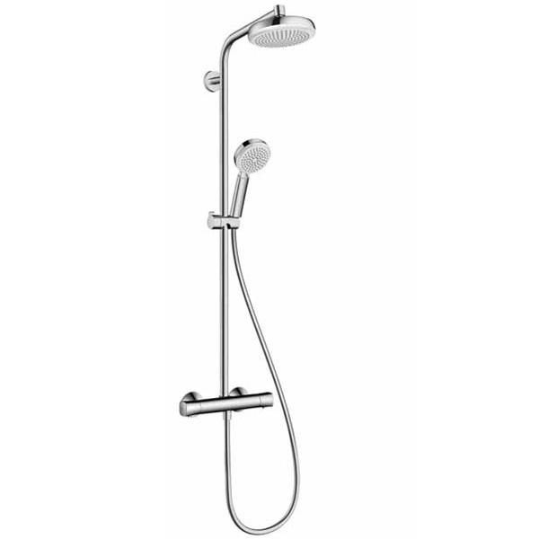 HANSGROHE Crometta 160 Showerpipe systém sprchový s termostatom 1jet biela/chróm 27265400
