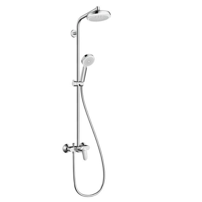 HANSGROHE Crometta 160 sprchový systém 1jet Showerpipe biela/chróm 27266400