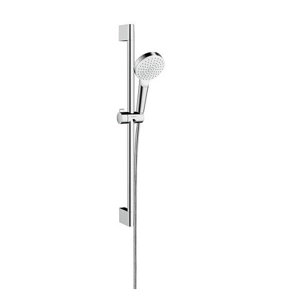 HANSGROHE Crometta 1jet  EcoSmart 9 l/min sprchový set s tyčou 0,65m biela/chróm 26535400