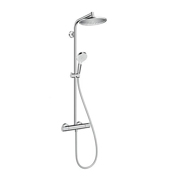 HANSGROHE Crometta S 240 sprchový systém 1jet Showerpipe EcoSmart s termostatom chróm 27268000
