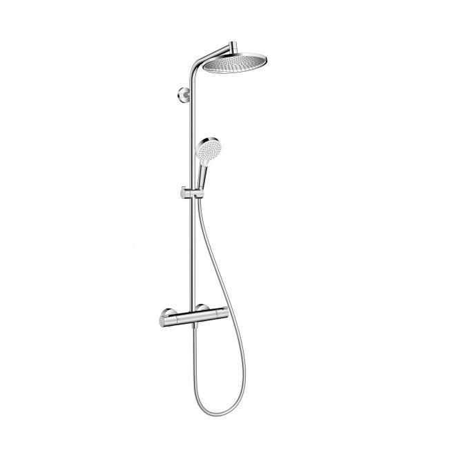 HANSGROHE Crometta S 240 sprchový systém 1jet Showerpipe s termostatom chróm, 27267000