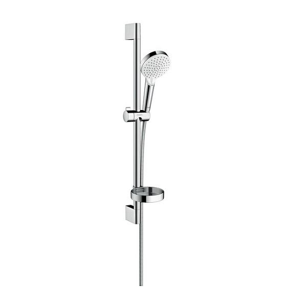 HANSGROHE Crometta Vario sprchový set 2-pol s tyčou 0,65m a miskou Casetta biela/chróm 26553400