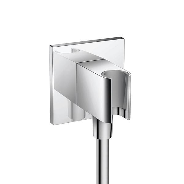 Hansgrohe Fixfit pripojka hadice s držiakom sprchy Porter Squaro chróm  26486000