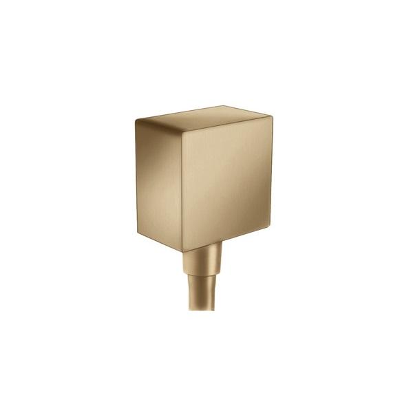 HANSGROHE Fixfit prípojka hadice Square so spätným ventilom kartáčovaný bronz 26455140