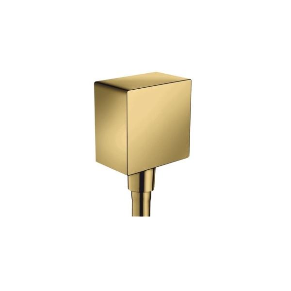 HANSGROHE Fixfit prípojka hadice Square so spätným ventilom leštený vzhľad zlata 26455990