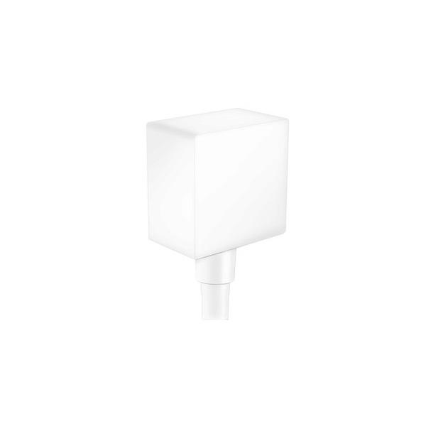 HANSGROHE Fixfit prípojka hadice Square so spätným ventilom matná biela 26455700