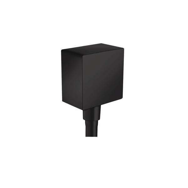 HANSGROHE Fixfit prípojka hadice Square so spätným ventilom matná čierna 26455670