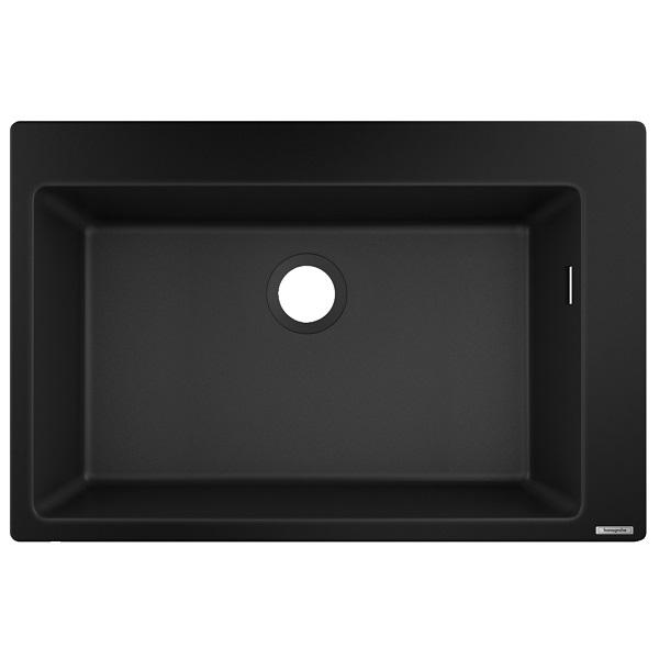 HANSGROHE granitový drez S510-F660 770 x 510mm jednodrez SilicaTec betónová šedá, 43313170