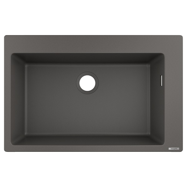 HANSGROHE granitový drez S510-F660 770 x 510mm jednodrez SilicaTec betónová šedá, 43313290