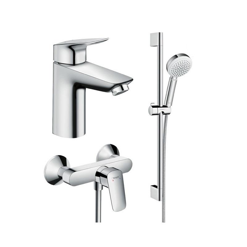 Hansgrohe Logis SET 3v1 sada pre sprchu a umývadlo chróm , 355469