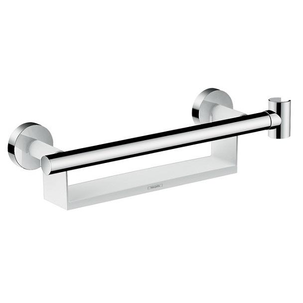 HANSGROHE madlo RAINDANCE Select S Comfort s držiakom sprchy Porter a poličkou biela/chróm 26328400