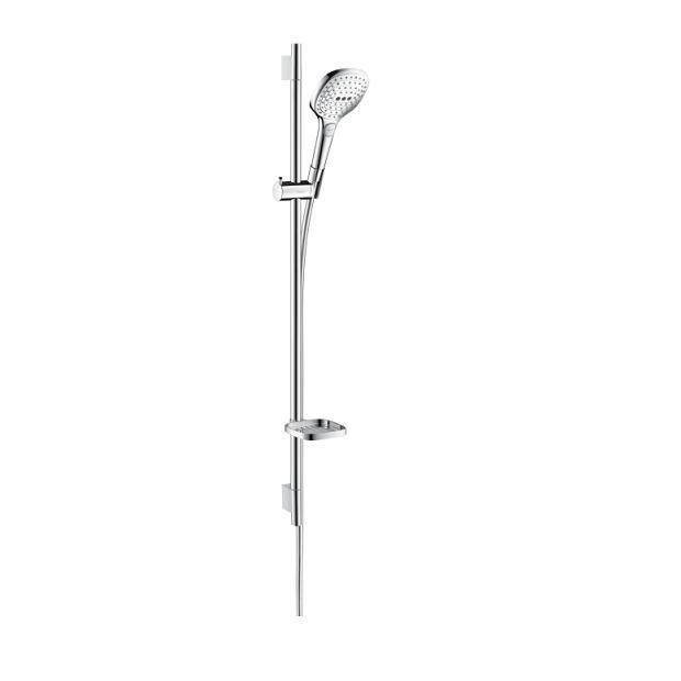 HANSGROHE RAINDANCE Select E 120 3jet sprchový set EcoSmart 9 l/min  tyč 90cm úsporná verzia  biela/chróm 26623400
