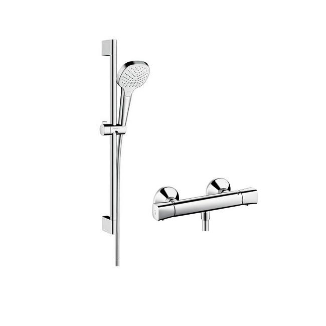 HANSGROHE SET 2v1 Ecostat Universal 1001 sprchová batéria termostatická chróm so sprchovým setom Croma
