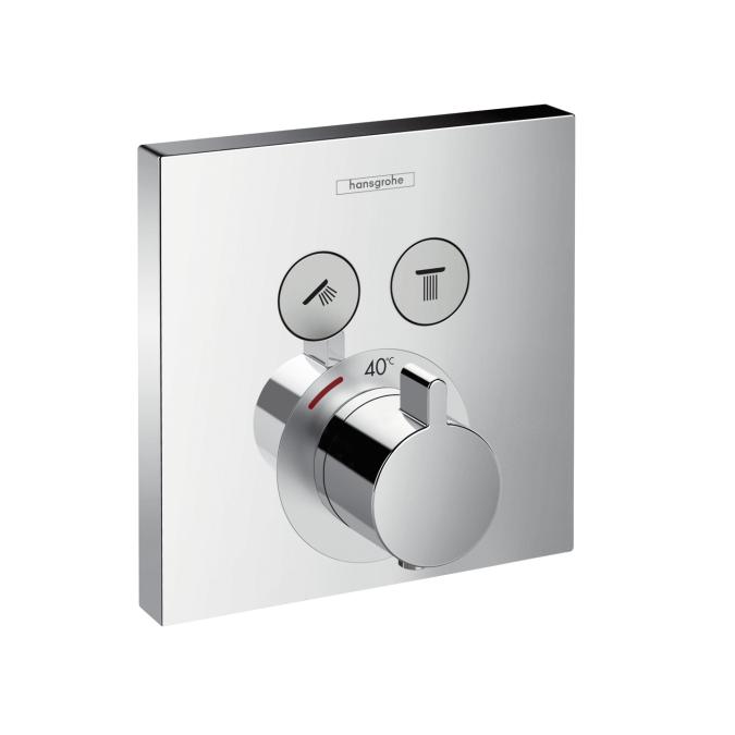 HANSGROHE ShowerSelect termostatická batéria pod omietku pre 2 spotrebiče chróm 15763000