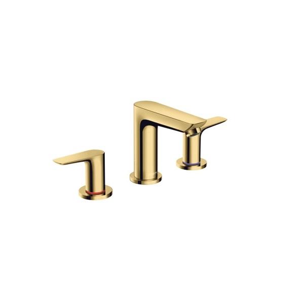 HANSGROHE Talis E 3-otvorová umývadlová batéria 150 s odtokovou súpravou s tiahlom  leštený vzhľad zlata 71733990