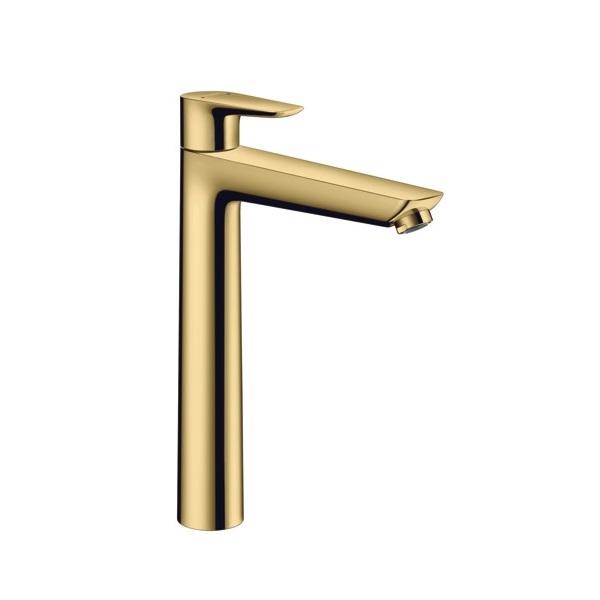 HANSGROHE Talis E páková umývadlová batéria 240 s odtokovou súpravou s tiahlom leštený vzhľad zlata 71716990