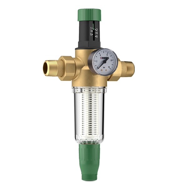 HERZ - filter pre studenú pitnú vodu DN15 s membránovým redukčným tlakovým ventilom, 2 3011 01
