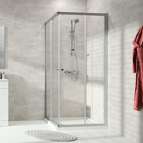 HÜPPE ALPHA 2 GT2 2dielne dvere sprchové zhotovenie na mieru posuvné str. pololesklá číre sklo AP