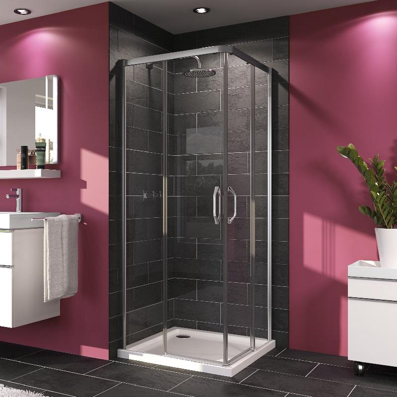 HÜPPE MyFlex sprchové dvere 80x80 roh vstup