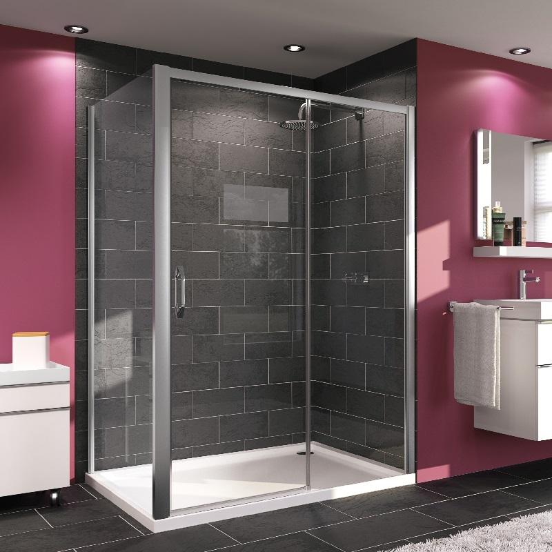 HÜPPE MyFlex sprchové dvere posuvné 130 cm upevnenie vpravo