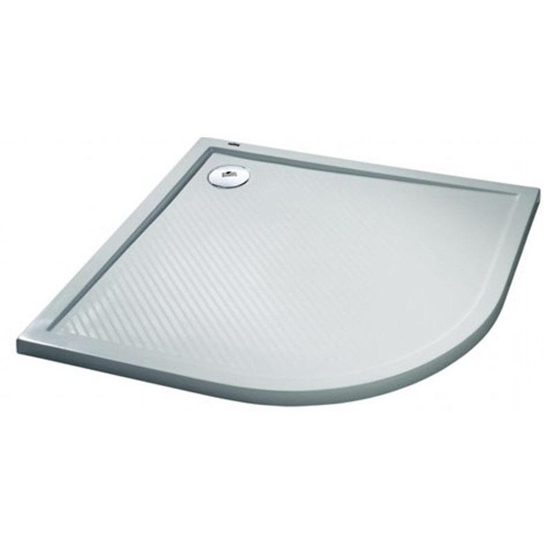 HÜPPE Purano sprchová vanička 90 x 90 cm 1/4-kruh  biela s protišmykom 202151055