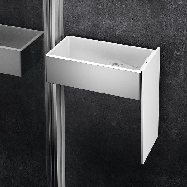 HÜPPE SELECT+ Drybox box do sprchy strieborná matná SL2201087