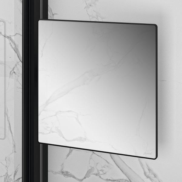 HÜPPE SELECT+ Mirror zrkadlo do sprchy matná čierna SL2301123
