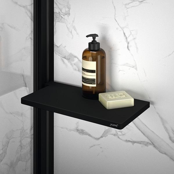 HÜPPE SELECT+ Tablet polička do sprchy matná čierna SL2101123