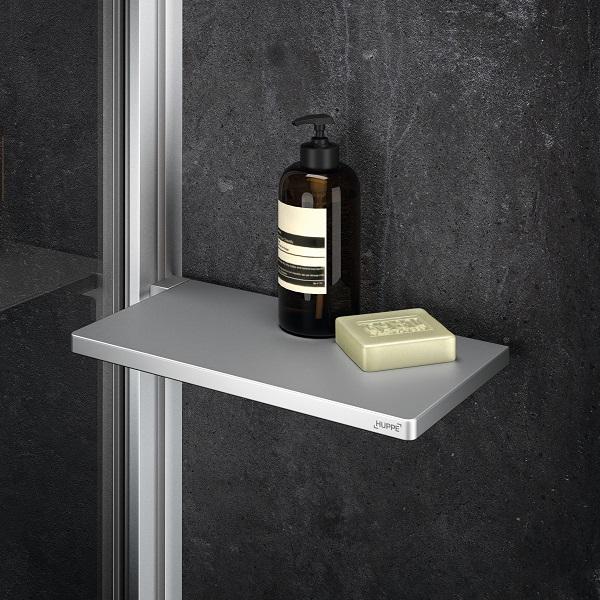 HÜPPE SELECT+ Tablet polička do sprchy strieborná matná SL2101087